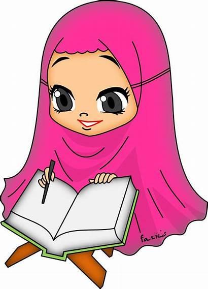 Muslim Clipart Doodle Islamic Islam Drawing Hijab