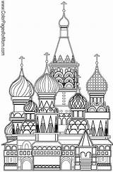 Coloring Pages Church Buildings Adult Colouring Russian Grown Printable Ups Basil Moscow Landmarks Sheets St Famous Colorpagesformom Architecture Books Drawings sketch template