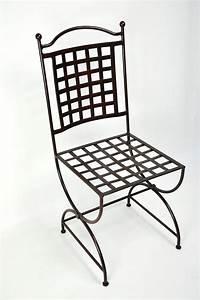 Chaise Fer Forgé : chaise fer forge ~ Teatrodelosmanantiales.com Idées de Décoration