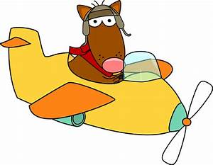 Dog Flying an Airplane Clip Art - Dog Flying an Airplane Image