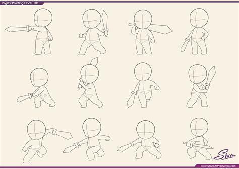 studying chibi fighting poses by shinekoshin on deviantart