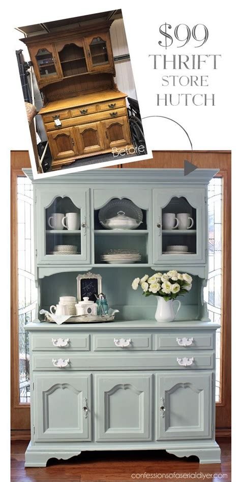 Hutch Painting Ideas by Thrift Store Hutch Makeover Best Diy Ideas