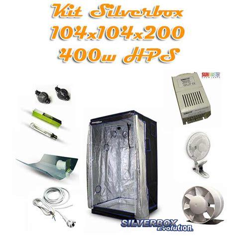 kit chambre de culture kit silverbox evolution 1m2 400w hps kit de culture pack