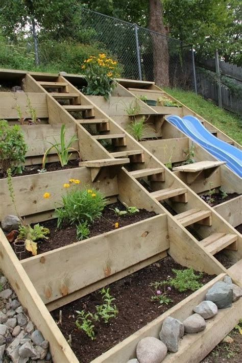 gardening on a hillside steep hill garden gardening pinterest