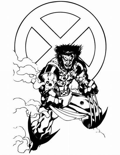 Coloring Marvel Wolverine Superhero Comic Comics Ausmalbilder