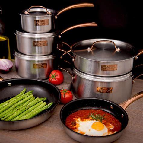 fleischer  wolf london tri ply  piece cookware set   cookware set cookware sets