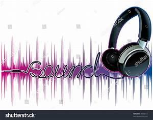 Neon Pulsing Music Headphones Stock Vector 76039117