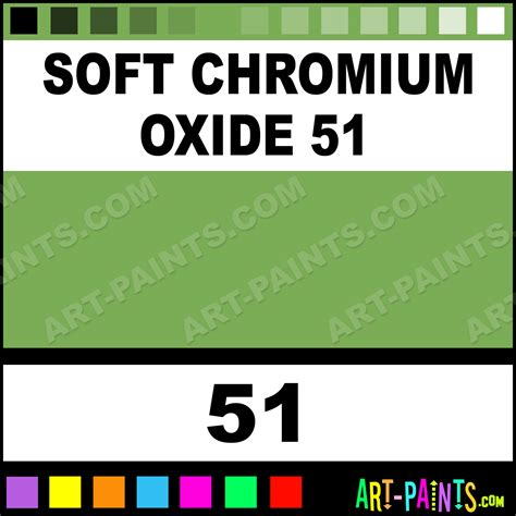 Soft Chromium Oxide 51 Soft Pastel Paints  51 Soft