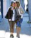 Maria Bello and girlfriend pack on the PDA during holiday ...