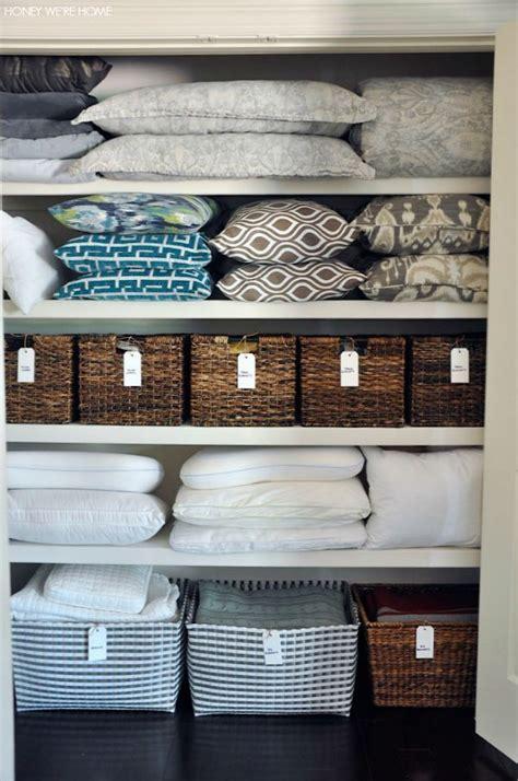 Linen Closet Baskets by Honey We Re Home Organized Linen Closet