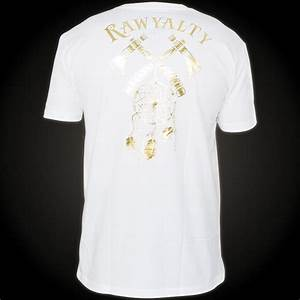 rawyalty t shirt indian skull ii black t shirt with gold With gold foil lettering t shirt