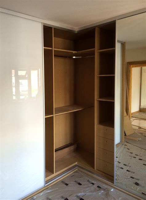 Corner Wardrobe by Corner L Shaped Sliding Wardrobes