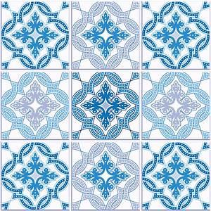 Stickers Carreaux De Ciment : 9 stickers carreaux de ciment azulejos airaro cuisine ~ Premium-room.com Idées de Décoration