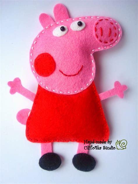 peppa pig  sus amigos hechos  lana de fieltro