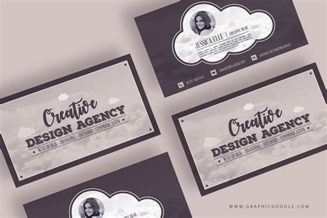 Free Creative Design Agency Vintage Business Card Template