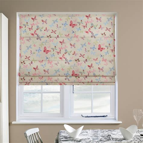 Butterfly Roman Blind In Vintage  Quality Made To Measure