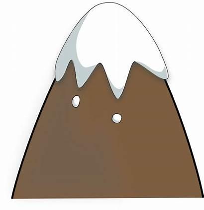 Vector Mountain Clip Clipart Brown Mountains Outline