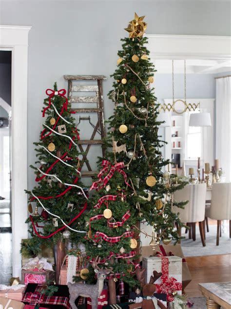 decorate multiple christmas trees hgtv