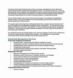 sample property management proposal template 14 free With property management documents templates
