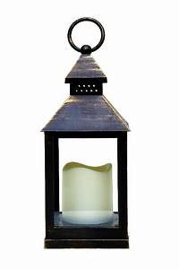 Battery, Operated, Antique, Bronze, Candle, Lantern
