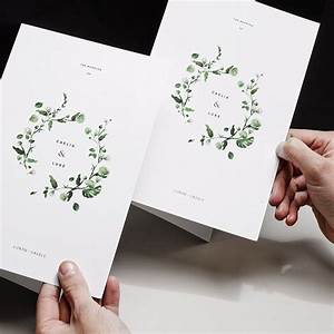 Helping hands outtake viridian floral wreath paper book for Minimalist floral wedding invitations