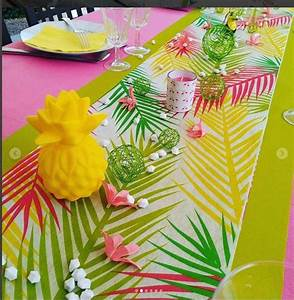 Chemin De Table Tropical : 4 id es de table tropicale pour un repas tropicool cet t ~ Melissatoandfro.com Idées de Décoration