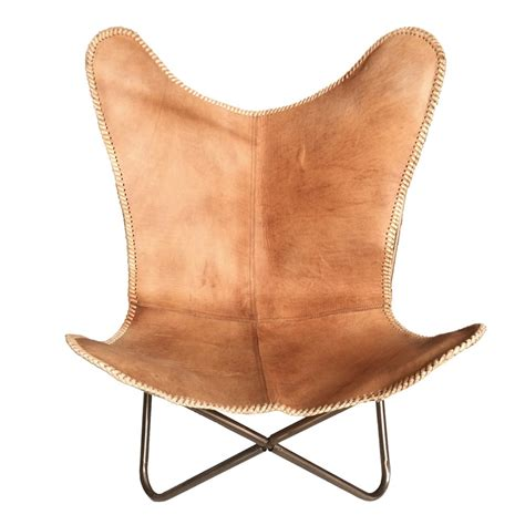 leather butterfly chair brown delivery from