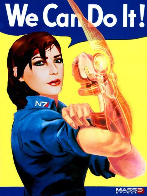 Rosie The Riveter Meme - awesome reimagining of rosie the riveter set to mass effect 3 stephanie boomhower games