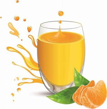 Juice Orange Glass Vector Clipart Clip Drink