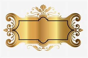 Gold Decorative Frame, Frame, Decoration, Golden PNG Image ...