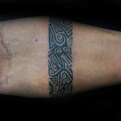 forearm band tattoos  men masculine design ideas