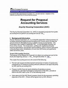 Sample Consulting Proposal Template Request For Proposal Accounting Services Enterprise