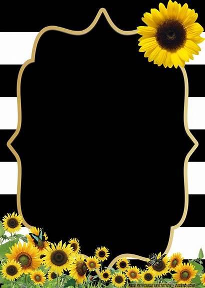 Invitation Templates Birthday Sunflower Printable Flower Invitations