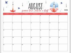 Free Printable 2018 Monthly Calendar Latest Calendar