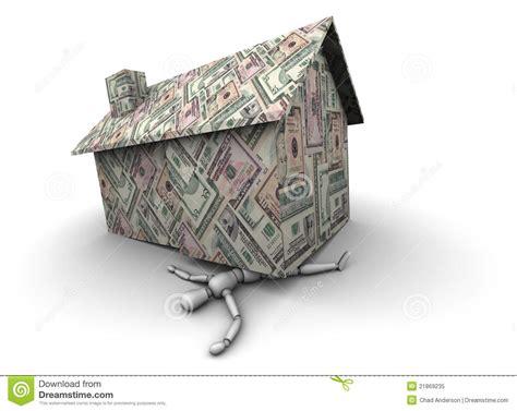 money house crushing man royalty  stock photo image
