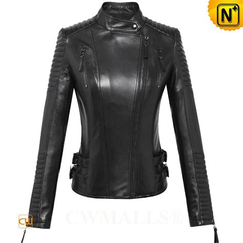 motocross womens womens fitted collarless leather moto jacket cw650022