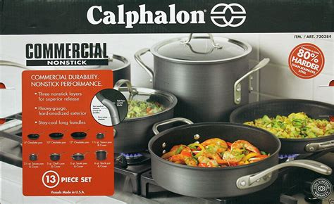 calphalon commercial nonstick  piece cookware set walmartcom walmartcom