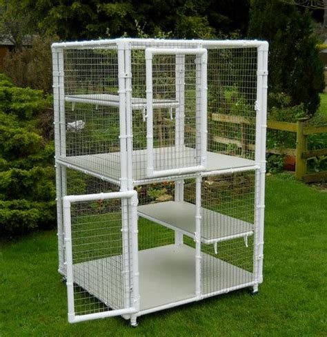 double decker cat cage  middle floor  penthouse products cat cages bunny cages cat diy
