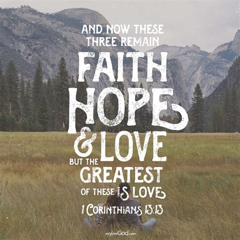 1 corinthians 13:13 and now abideth faith, hope, charity, these three; Pin on Bible Verses