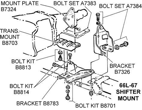 Shifter Mount Diagram View Chicago Corvette