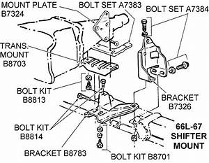 1966l-67 Shifter Mount - Diagram View