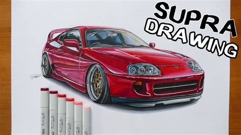 Toyota Supra Car Drawing