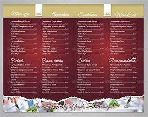 delicious restaurant menu template by punedesign With resturant menu templates