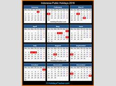 Indonesia Public Holidays 2016 – Holidays Tracker