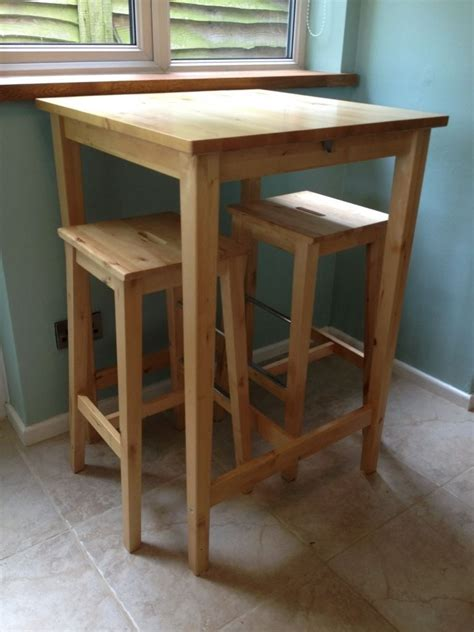 Ikea Bar Table And Two Matching Stools In Solid Birch Wood. Solar Powered Desk Fan. Tiny Bedside Table. Craigslist Desk For Sale. Ikea Drawer Dresser. Small Desk Computer. Workouts You Can Do At Your Desk. Small White Desk. Unique Desk Sets