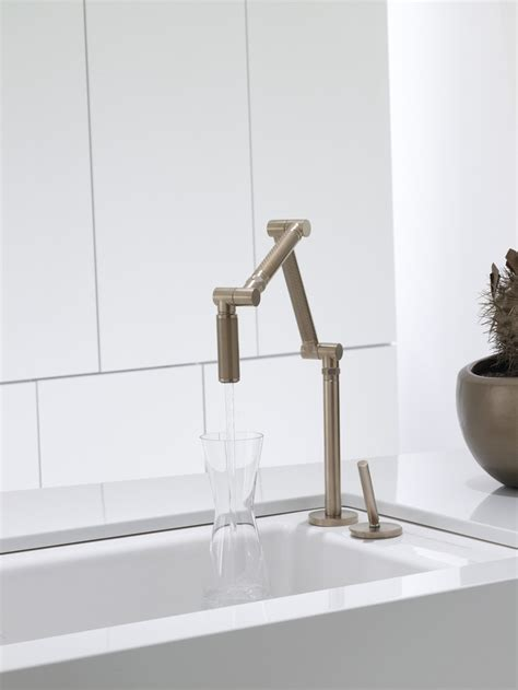 kitchen sink finishes kohler co s karbon faucet with bronze finish kitchen 2707