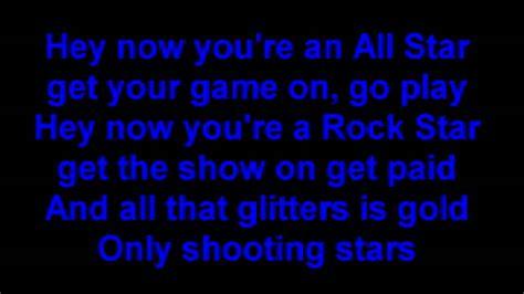 Smash Mouth  All Star Lyrics (original) Youtube