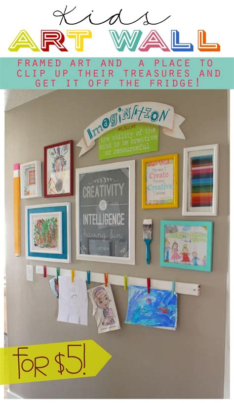 diy displays the idea room 249 | kids artwall easy diy to get your kids art off the fridge 900x1549
