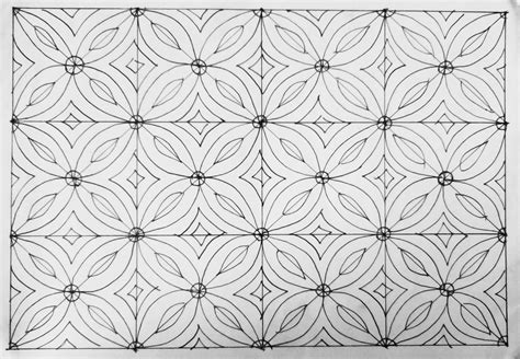 Sketsa Batik Motif Flora Tulisanviralinfo