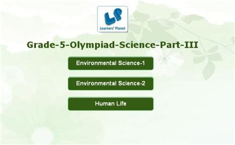 grade science olympiad practice quizzes